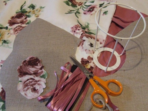 marie-claire idees, marie,claire,idees, abat-jour, sac, bag, DIY, ikea,tissu, fleurs